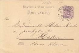 Entier 5 Pf Violet Obl. Strasbourg 4b (T 132 B 2) Le 30/04/89 Pour Hatten (basse Alsace) - Elzas-Lotharingen