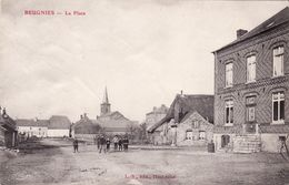 CPA 1914 BEUGNIES - La Place (A181, Ww1, Wk 1) - Other Municipalities