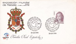 EXPOSICION MUNDIAL DE FILATELIA, MADRID ESPAÑA/L'ESPAGNE/SPAIN. 1984 - SPECIAL COVER - BLEUP - 1981-90 Cartas
