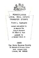 UNITED STATES, Pennsylvania Real Estate Transfer Stamps, By Frank Applegate - Fiscaux