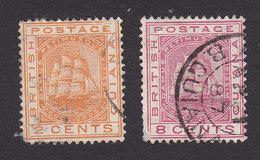 British Guiana, Scott #108, 111, Used, Seal Of The Colony, Issued 1882 - British Guiana (...-1966)