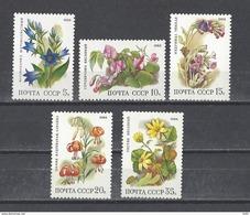 RUSSIE . YT 5529/5533 Neuf ** Flore Pécifique Des Forêts De Feuillus 1988 - 1923-1991 URSS