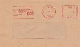 1974 Portadown GB COVER METER SLOGAN Illus BEER BOTTLES James McCABE DISTILLERS Northern Ireland  Stamps Alcohol Drink - Beers