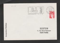 FRANCE / 1978 / Y&T N° 1981 : Sabine 1F Rouge Roulette - Sur Pli Du 31/10/1978 (flamme Forcalquier) - 1961-....