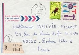 Congo (Brazzaville), Nice Registered Cover From ABALA, 09.04.1977,  VFU - Congo - Brazzaville