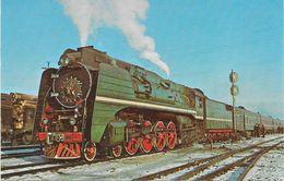 USSR RAILWAYS TRAIN N°1 RUSSIA AT SKOVORODINO SIBERIA 1970 - Trains