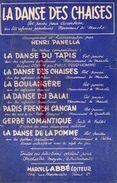 PARTITION MUSIQUE- LA DANSE DES CHAISES- LA BOULANGERE- ACCORDEON-HENRI PANELLA-PRUD'HOMME-MARCEL LABBE PARIS- - Scores & Partitions
