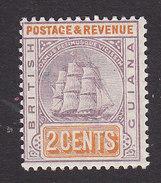 British Guiana, Scott #132, Mint Hinged, Seal Of The Colony, Issued 1889 - British Guiana (...-1966)