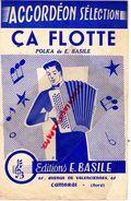 59- CAMBRAI-PARTITION MUSIQUE ACCORDEON CA FLOTTE POLKA -EDITIONS E.BASILE- 61 AVENUE VALENCIENNES- RARE - Scores & Partitions