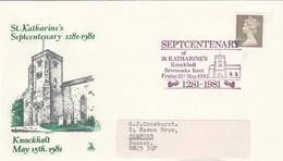 1981 St KATHERINES CHURCH KNOCKHOLT  Sevenoaks 700th Anniv  EVENT COVER Religion Stamps Gb - 1952-.... (Elizabeth II)