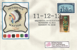 IROQUOIS NATION. Only Century Digit 11-12-13, Letter Sequential Date Of The Century Nov.12-2013. - American Indians
