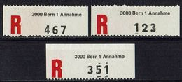 Schweiz // R-Zettel, 3000 Bern 3x (9081) - Sin Clasificación