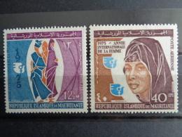 MAURITANIE 1975 P.A.   Y&T N° 156 & 157 ** - ANNEE INTERN. DE LA FEMME - Mauritania (1960-...)