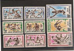CONGO- GABON-CENTRAFRIQUE JEUX SPORTIFS Année 1962 LOT** - Postzegels