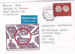 LITHUANIA Kaunas Senasis Pastas EVENT COVER  1.20 Coins Stamps - Lithuania
