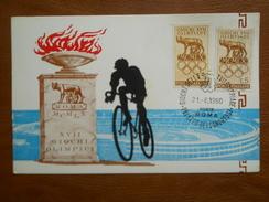 "Italia, Olimpiadi, Cartolina ""Disciplina Ciclismo""  XVII Giochi Olimpici Di Roma Del 21/8/1960 - Stadien & Sportanlagen"
