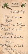 VP11.133 - Ancien Menu De 1929 - Famille ALLO - Menus