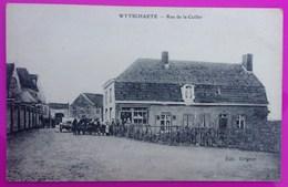 Cpa Wytschaete Rue De La Cuiller Carte Postale Belgique Wijtschate Heuvelland Flandre Occidentale Rare Région Flamande - Non Classés