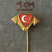Badge (Pin) ZN005779 - Weightlifting Turkey Federation / Association / Union THF - Weightlifting