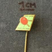 Badge (Pin) ZN005813 - Table Tennis (Ping Pong) Czechoslovakia Jiskra Novy Bydzov - Table Tennis