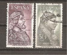 España/Spain-(usado) - Edifil  1538-39 - Yvert  Aéreo-294-95 (o) - Posta Aerea