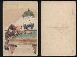 BILIARDO - BILLIARD - BILLARD - UMORISTICA - ANNI 30 - Cartoline