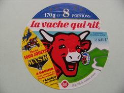 Etiquette Fromage Fondu - Vache Qui Rit - Bel 8 Portions Pub 1000 Jouets MASK à Gagner   A Voir ! - Fromage