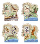 IVORY COAST 2014 - Lizards, Butterfly. OFFICIAL Deluxe Sheets - Schmetterlinge