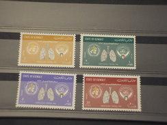 KUWAIT - 1963 TUBERCOLOSI 4 VALORI  - NUOVI(++) - Kuwait