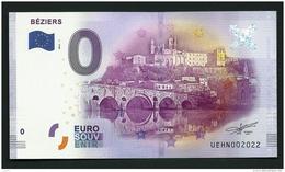 2016- BILLET SOUVENIR TOURISTIQUE DE BEZIERS- O €-  ÉTAT : NEUF PARFAIT - EURO