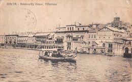 "06759 ""MALTA - ADMIRARLTY HOUSE VITTORIOSA"" ANIMATA, BARCA, TIMBRO 10 CENTIMES - T. CART  SPED 1922 - Malta"