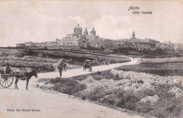 """06760 """"MALTA - CITTA' VECCHIA"""" ANIMATA, CARRI, FOTO THE GRAND STUDIO. CART NON SPED - Malta"""