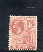 MONTSERRAT 1922-6 * - Great Britain (former Colonies & Protectorates)
