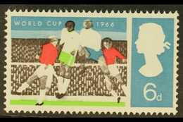 FOOTBALL  GREAT BRITAIN 1966 6d World Cup With BLACK OMITTED Error, SG 694a, Fine Never Hinged Mint, Fresh & Attractive. - Stamps