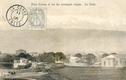 Grece - Crète - Place D'armes Et Vue Des Montagnes Neigées La Canée - Grecia