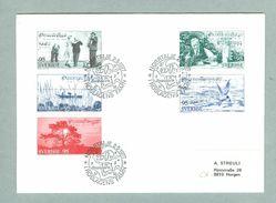 Sweden.  FDC 1977.  Roslagen District.   Engraver CZ Slania. Address:Switzerland - FDC