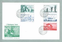 Sweden.  FDC  Cachet 1977.  Roslagen District.   Engraver CZ Slania. - FDC