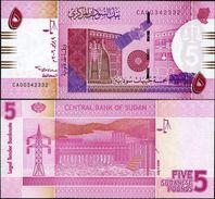 Sudan 5 Pounds 2006 UNC - Soudan