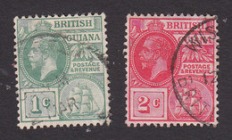 British Guiana, Scott #178-179, Used, George V, Issued 1913 - British Guiana (...-1966)