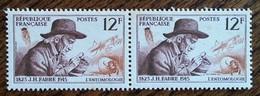 France - YT N°1055 Paire - J.H. Fabre / Entomologie - 1956 - Neufs - France