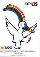 """PUBLICITE   /    GF    """" EXPO 92 PAR MASCOTA CURRO    """" CPSM  12  X  17 - Advertising"""