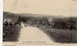 Grand Prix  -  Circuit De Picardie 1907  -  Vue Sur La Route Entre Boves Et Berteaucourt, Km 36 - CPA - Grand Prix / F1