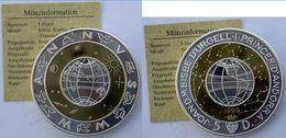 ANDORRA 5 D 1999 ARGENTO+KUPFER+ZINK PROOF SILVER TRIMETALLICA MILLENNIUM 2000 PESO 30g TITOLO 0,925 CONSERVAZIONE FONDO - Andorre