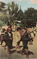 Guatemala Chichicastenango Cofrades On Way To Church - Guatemala