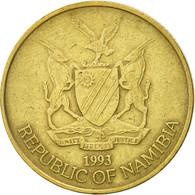 Namibia, 5 Dollars, 1993, TTB, Laiton, KM:5 - Namibia