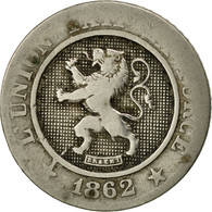 Belgique, Leopold I, 10 Centimes, 1862, TB, Copper-nickel, KM:22 - 1831-1865: Léopold I