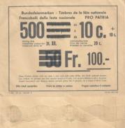 """Post Form 320  """"Bundesfeiermarken""""  (Stempel  Bern Wertzeichen Und Drucksachendienst)          1962 - Svizzera"""