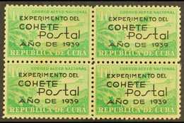 1939  AIR 10c Emerald Experimental Postal Rocket Flight, Sc C31, Fine Mint BLOCK OF FOUR. For More Images, Please Visit  - Unclassified
