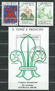 Sao Tome And Principe.1988 World Scout Jamboree, Australia.Scouting.stamps & S/S.used - Sao Tome Et Principe