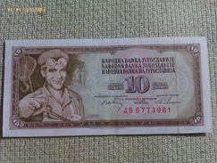 Billete Yugoslavia. 10 Dinares. 1968. Muy Buena Conservación - Yugoslavia